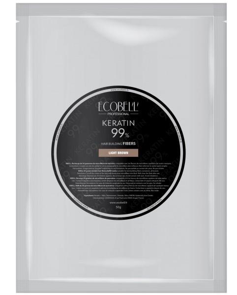 Ecobell Schütthaar Vorratspackung Keratinfasern zur Haarverdichtung - 50g